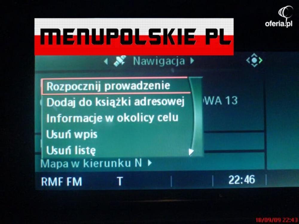 Polskie Menu Nawigacja Bmw E60 X1 X3 F10 Mapa Usa Oferia Pl