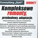 Kompleksowe remonty. - Consulting Sati Sp. z o.o. Warszawa i okolice