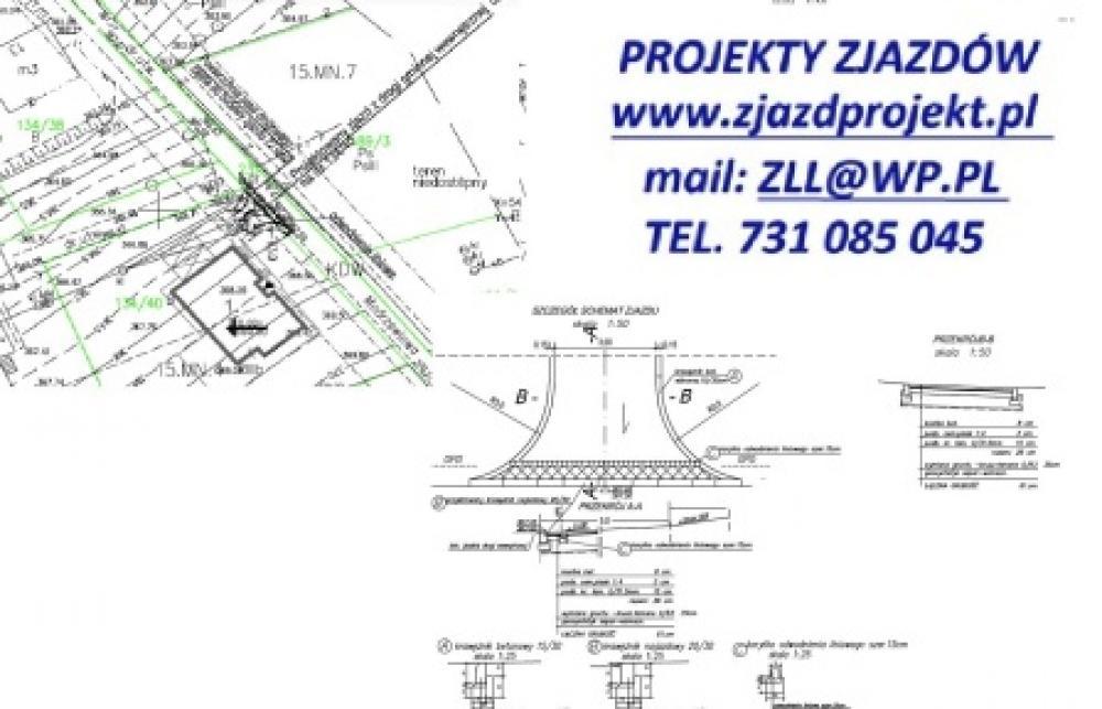 Preferowane Projekt zjazdu, wjazdu, parkingu, chodnika • Oferia.pl YC-13